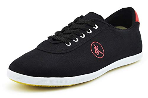 Mingren Crane Kick Low Cut Martial Arts and Parkour Shoes Black/Red