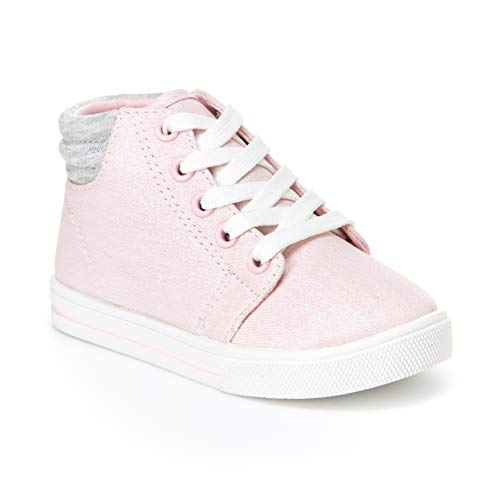 Simple Joys by Carter's Baby Girls' Cora Gliter High-Top Sneaker, Pink, 5 M US Toddler