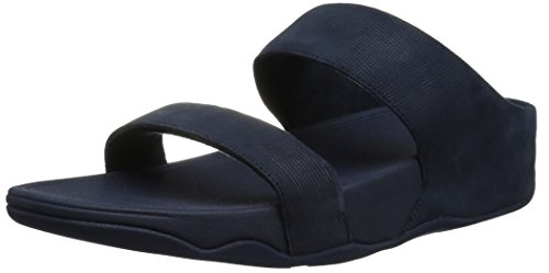 Image of FitFlop Women's Lulu Slide Shimmer-Check Sandal