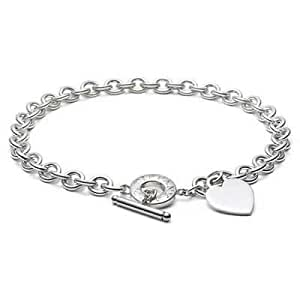 Tiffany And Co Necklace Heart Tag Toggle Link Silver 022
