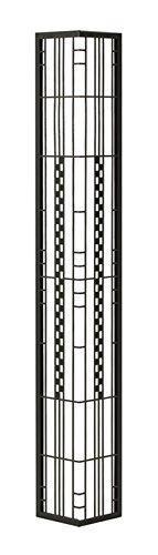 壁飾り 外壁 ウォールアクセサリー 亜鉛鋼板(焼付塗装) シャドーピクチャー コーナータイプ デザインB 取付ピン付属 B0793RNS4B