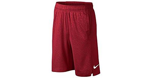 Nike Boy`s Dri-FIT Elite Basketball Shorts (University Red(657)/White, Medium)