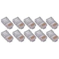 4XEM 4X100PKC6 100PK Cat6 RJ45 Ethernet Plugs/Connectors - 100 Pack - 1 x RJ-45 Male - Gold-plated Contacts (4XEM4X100PKC6 )