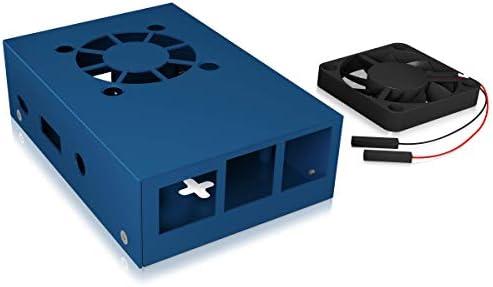 Icy Box Raspberry Pi 3 - Carcasa con Ventilador (Aluminio, 2 disipadores de Calor, Montaje en Pared), Color Azul ...