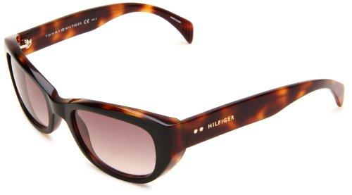 Tommy Hilfiger Women's TH1088S Cat Eye Sunglasses,Black,Dark Tortoise Frame/Brown Gradient Lens,One Size