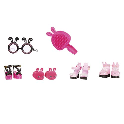 "MGA Entertainment Na Na Na Surprise Ultimate Black Bunny and 11"" Fashion Doll Surprise Doll with Clothes & Accessories 100+ Mix & Match Looks for Kids Girls"