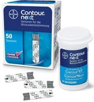 Contour Next Blood Glucose Test Strips - 50 (Diabetic Test Strips Bayer)