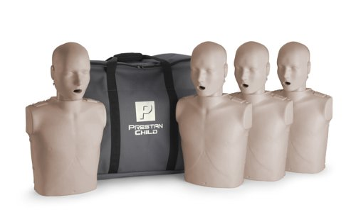 Prestan Child CPR-AED Training Manikin without CPR Monitor 4-pack Medium Skin