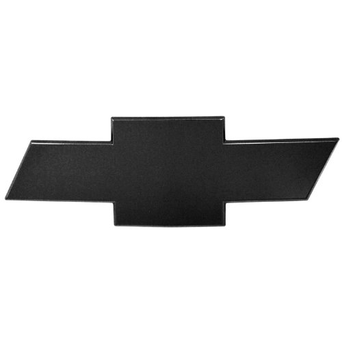 AMI 96295K Chevy Bowtie Grille Emblem without Border- Black Powder coat, 1 Pack