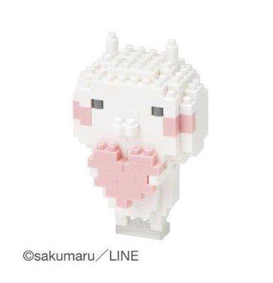 Rabbit whole Nano LINE Stamp by sakumaru