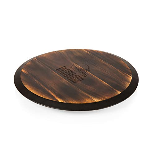 PICNIC TIME NFL Cleveland Browns Lazy Susan Turntable Tray