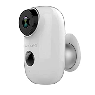 【Cloud Storage Battery Cam】xmartO Wireless Security Camera for Home, Baby Monitor, Pet Camera, Rechargeable Battery Operated, Body Detection, 2 Way Audio, Weatherproof,16GB SD,Free 7 Day Cloud Storage