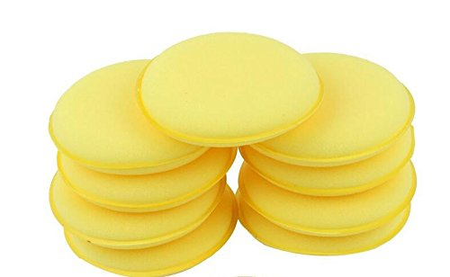 - VNDEFUL 12 PCS Yellow Microfiber Wax Applicator, Sponge Applicator Pads ,Fit for Clean Car Vehicle Auto Glass