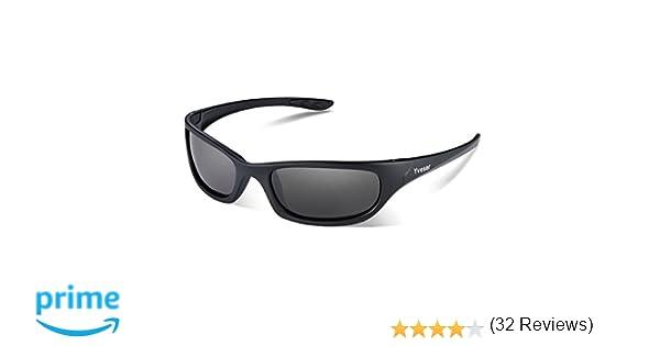 ab322b49e8 Yveser Hombre Gafas de Sol Deportivas polarizadas UV400 para béisbol,  Atletismo, Ciclismo, Pesca, esquí, Excursionismo, Golf Yv148 (Lentille  Noire/Cadre ...