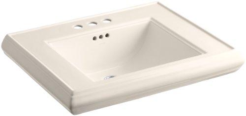 "KOHLER K-2259-4-55 Memoirs Pedestal Bathroom Sink Basin with 4"" Centers, Innocent Blush"