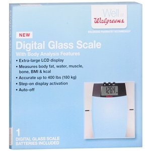 64b3b6025f2 Image Unavailable. Image not available for. Color: Walgreens Electric Scale  with BMI & Body Fat ...