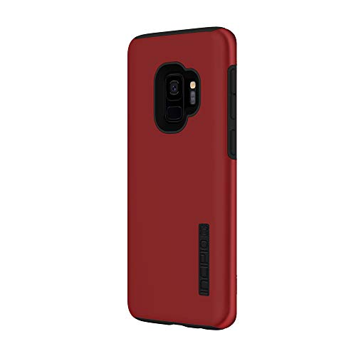 Incipio DualPro Samsung Galaxy S9 Case with Shock-Absorbing Inner Core & Protective Outer Shell for Samsung Galaxy S9 (2018) - Iridescent Red/Black