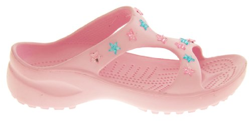De Fonseca Niñas Chanclas de Verano Sandalias Zapatos de la Playa Correa Rosa Con Estrellas