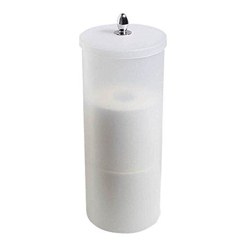 Orb Toilet Paper Holder Canister, (Plastic Toilet Paper Holder)