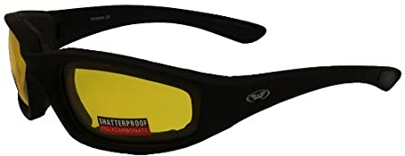 Global Vision Kickback Motorcycle Glasses (Black Frame/Smoke Lens) KICKBACKSM