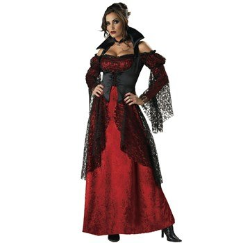 [Vampiress Costume - X-Large - Dress Size 16-18] (Red Vampiress Adult Costumes)
