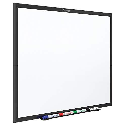 Quartet Magnetic Whiteboard, 6' x 4' White Board, Dry Erase Board, Black Aluminum Frame (SM537B) ()