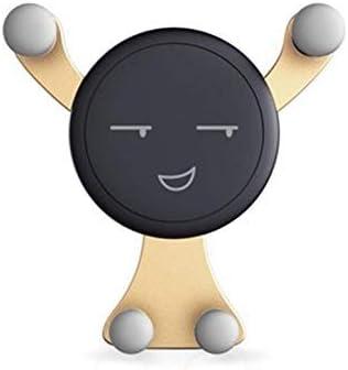 ユニバーサル車両のエアアウトレットベントマウントカーホルダースタンドスマートフォン携帯電話ホルダーブラケット自動重力ホルダークリップ、ゴールド