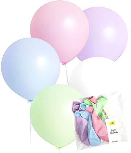 TOKYO SATURDAY 24 inch Large Extra Sized Pastel Unicorn Theme Party Decoration Balloons 10pcs, Girl Birthday Party, Baby Shower, Garland (Unicorn 24)
