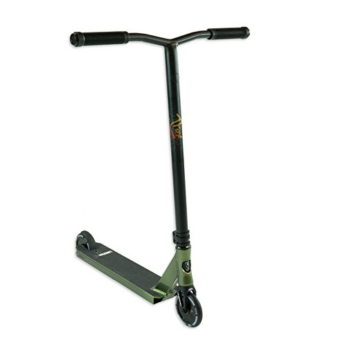 Lucky TFOX Sig Pro Complete Freestyle Scooter, Black/Green