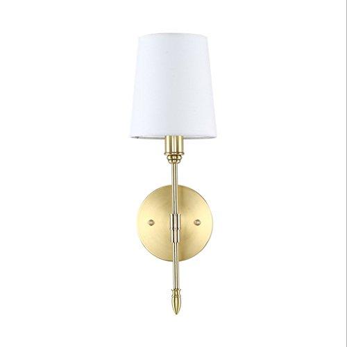 LJL Lampe Murale Américaine Simple Tissu Salon Salle À Manger Chambre Lampe De Chevet Couloir Couloir Lampe Murale en Cuivre