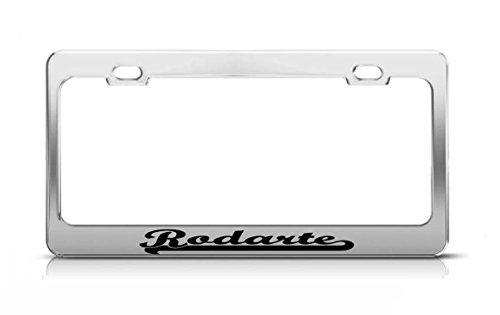 rodarte-last-name-ancestry-metal-chrome-tag-holder-license-plate-cover-frame-license-tag-holder