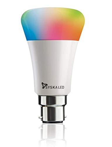 Syska Smart Light 7W LED Bulb Compatible with Amazon Alexa & Google Assistant (2.4 ghz Modem only)