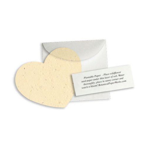 (Plantable Heart Note Favor - Cream (Pack of 100))