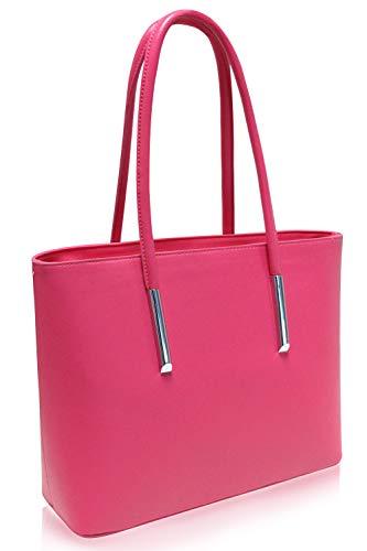 Vanessa & Melissa sac à main pour femme simili-cuir travailler étudier A4 Pink