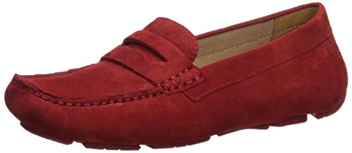 Naturalizer Women's Natasha Driving Style Loafer, Red, 7 M US