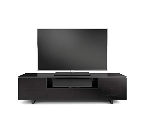 BDI 8239-S B Nora Slim Quad TV Stand Media Cabinet, Black