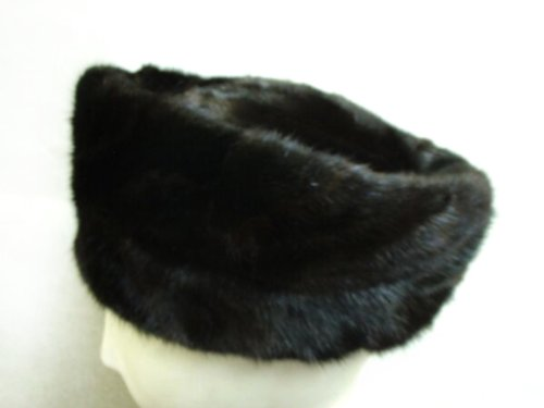 Ranch Mink Sections Telescoped Toque S 22'' by FursNewYork