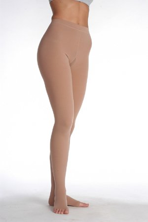 Juzo Soft Compression Pantyhose 30-40mmhg Open Toe, IV, Shadow (Color: Shadow, Tamaño: IV)