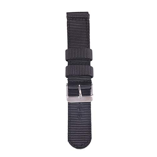 Bornbayb Solid Color Premium Nylon Nato Watch Straps Canvas Fabric Watch Band (Width: 18mm, 20mm, 22mm, 24mm) by Bornbayb (Image #2)