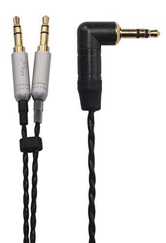 KK Cable AL-D HiFi Replacement Audio Upgrade Cable Compatible for T1 II, T5, MDR-Z7 Headphones, 3.5mm (L-Shaped Plugs) & 6.35mm Adapter. Audio Upgrade Cable. AL-D. (1.5M(4.9FT))