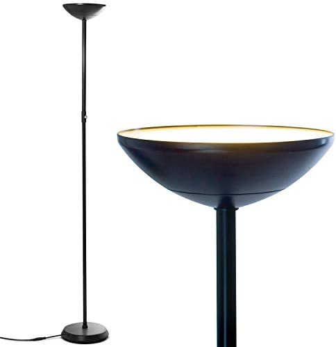 Brightech SkyLite LED Torchiere Floor Lamp Bright