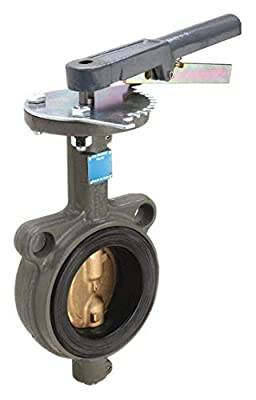 Butterfly Valve, Wafer, 2 1/2 In, CI, EPDM from MILWAUKEE VALVE