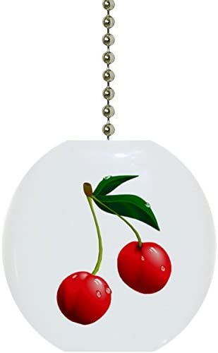 Cherry Fruit Ceramic Fan Pull