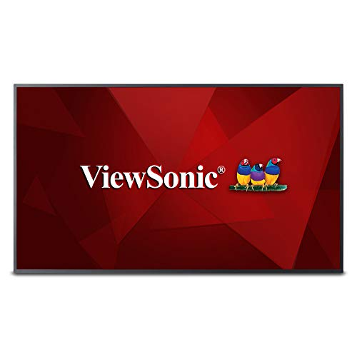 (ViewSonic CDE5010 50 Inch 4K UHD Commercial LED Display with 350-nit Brightness Wide Viewing Angles Ethernet LAN Built-in Media Player HDMI DVI)