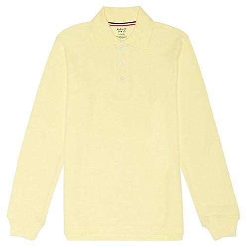 Kids Long Sleeve Polo (French Toast Long Sleeve Pique Polo Boys Yellow 14)