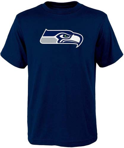 Navy Blue Youth Primary T-shirt - Outerstuff Seattle Seahawks Navy Blue Youth Performance Primary Logo T-Shirt (X-Large 18/20)