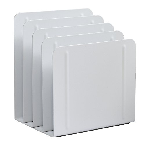 Acrimet Desk Metal File Sorter 4 Sections (White Color) (Sorter Four Sections)