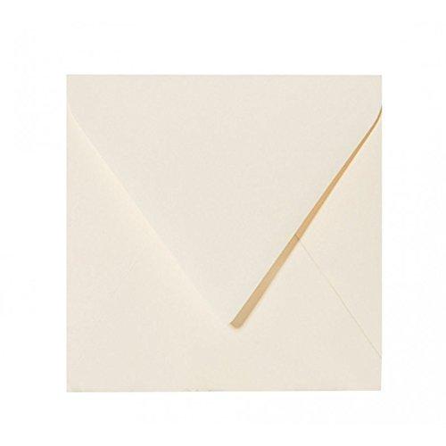 25 Quadratische Briefumschl/äge Farbe Zartcreme 12,5 x 12,5 cm 125 x 125 mm feuchtklebend Umschl/äge