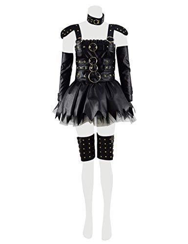 Women Black Scissorhand Costume Steampunk Pu Set Cosplay (Women S, Fullset)