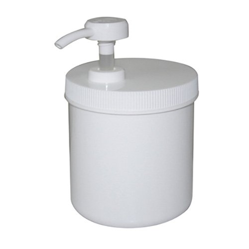 Oil 14 Ounce Jar - Royal Massage Empty Massage Oil/Lotion/Cream Pump Jar with Lock Twist Top, 14 Ounce , White